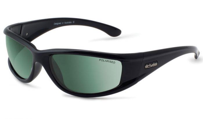 Dirty Dog Banger Sunglasses - Black/Green Polarised