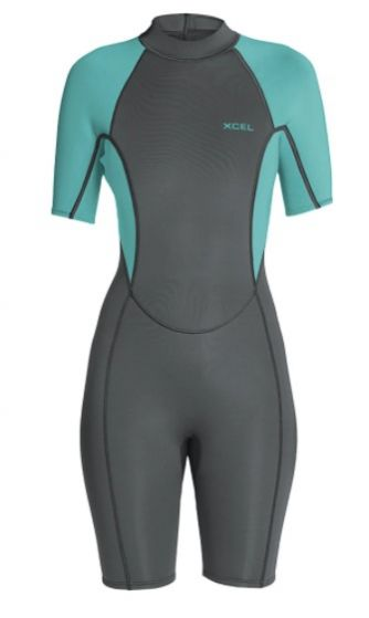Xcel Axis Short Sleeve Womens Spring 2mm Shorty Wetsuit - Grey
