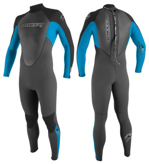 O'Neill Youth Reactor 3/2 Summer Wetsuit 2017 - Black/Blue