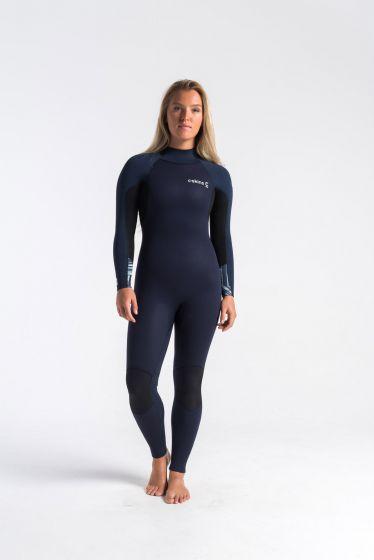C Skins Surflite 4/3mm Back Zip Womens Wetsuit 2020 - Slate