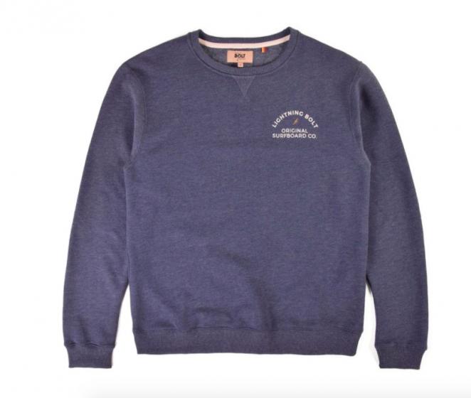 Lightning Bolt Venice Surf Co Sweatshirt - Blue