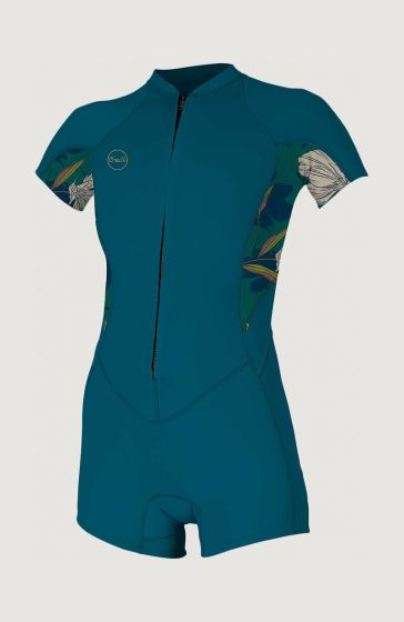 O'Neill Womens Bahia 2/1mm Front Zip Shorty Wetsuit 2020 - Navy