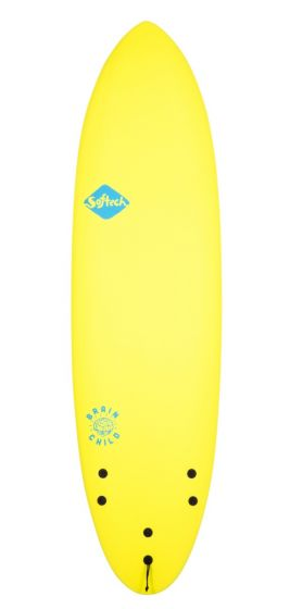 Softech Brainchild 6ft 3 Foam Surfboard - Ice Yellow