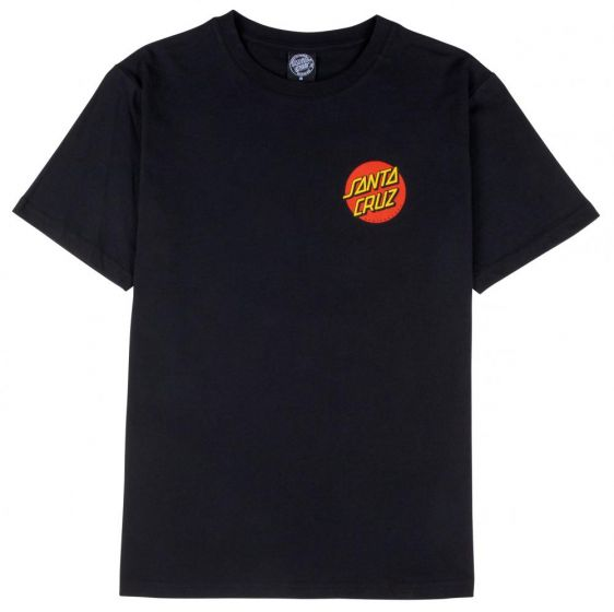 Classic Dot T-Shirt - Black - Santa Cruz
