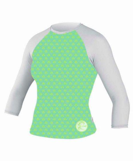 O´Neill Skins Ladies Long Sleeve Rash Vest - GREEN