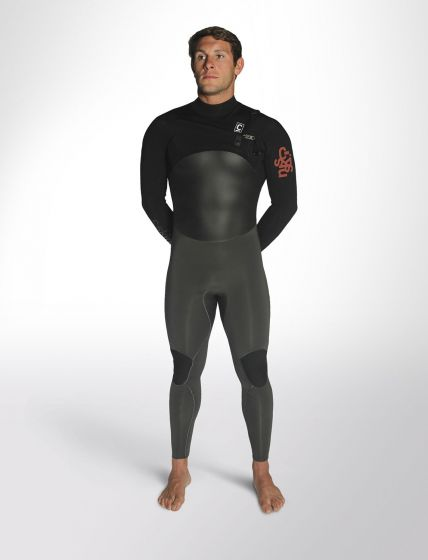 C-Skins Wired 4/3 Mens GBS Chest Zip Wetsuit front