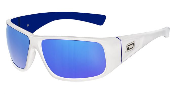 Dirty Dog Ultra Sunglasses - White/Blue Mirror Polarised