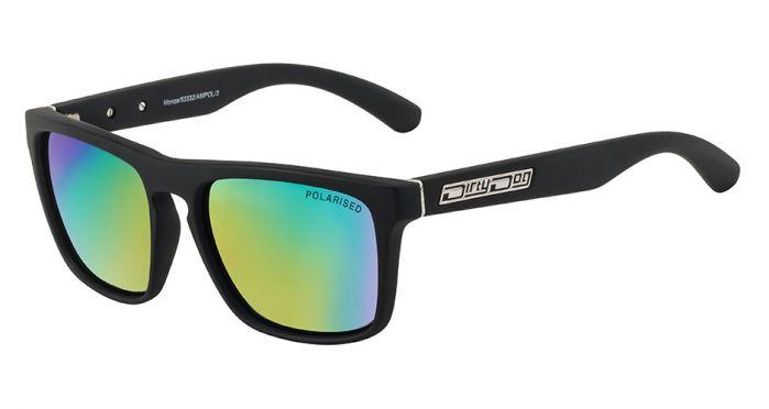 Dirty Dog Monza Sunglasses - Grey/Green Fusion Mirror Polarised