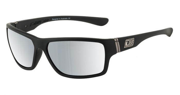 Dirty Dog Storm Satin Black Fusion Mirror Sunglasses - Polarised