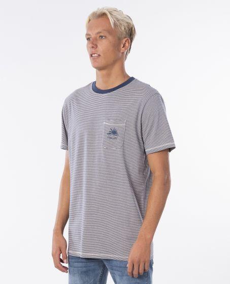 Rip Curl 'SWC Channel Stripe' T-Shirt - 'Stone'