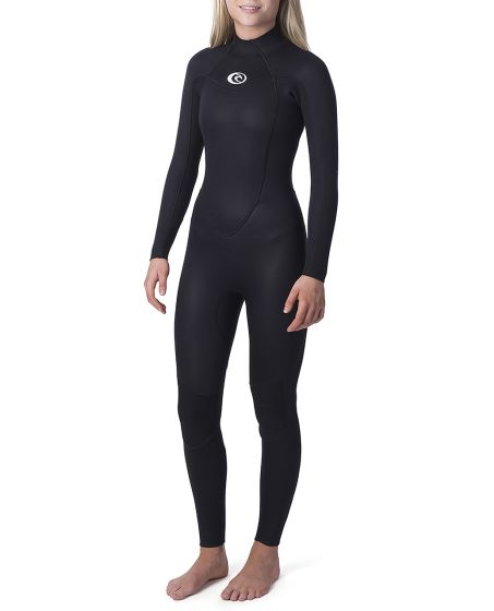 Rip Curl Womens Omega 4/3mm Back Zip Wetsuit 2020 - Black