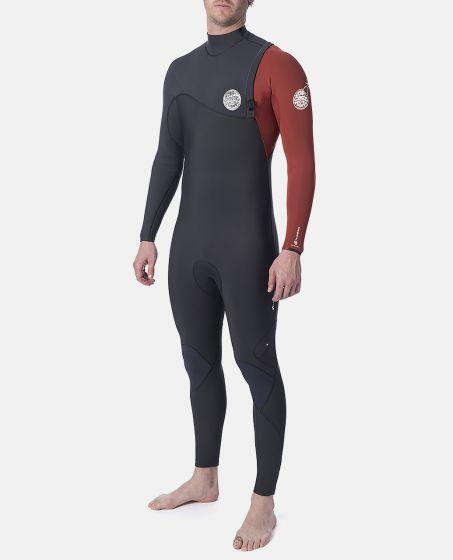 Rip Curl Flashbomb 4/3mm Zip Free Mens Wetsuit 2020 - Burnt Orange