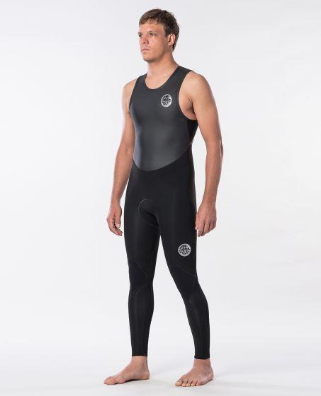 Rip Curl Dawn Patrol 1.5mm Long John Wetsuit 2020 - Black