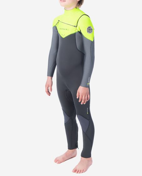 Rip Curl Dawn Patrol 3/2 Chest Zip Youth Wetsuit