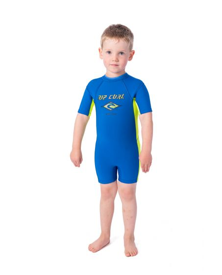 Rip Curl 1.5mm Kids Omega Short Sleeve Springsuit 2020 - Blue