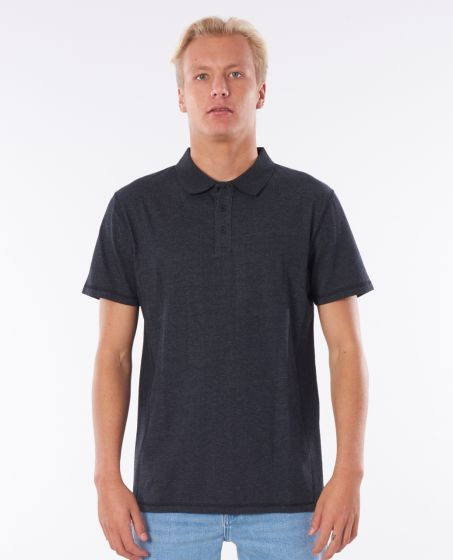Rip Curl Pivoting Polo Mens Shirt - Black Marled
