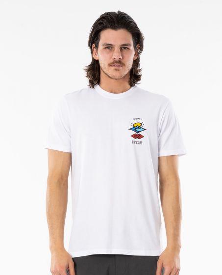 Rip Curl Search Essential Mens T Shirt - White