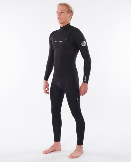 Rip Curl Dawn Patrol Performance Front Zip 3/2mm Mens Wetsuit 2020 - Black