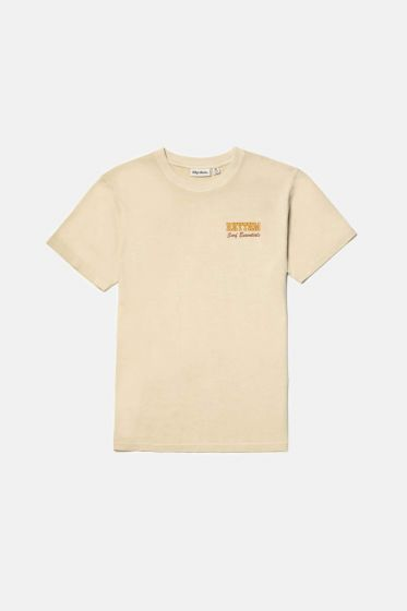Rhythm Oceanside Mens T Shirt - Cream