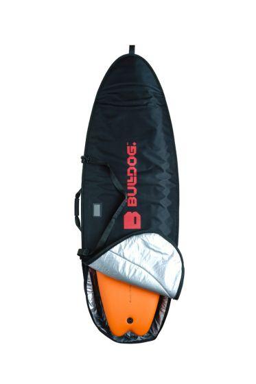 Bulldog 5mm 6ft 3 Fish SurfBoard Bag - Black
