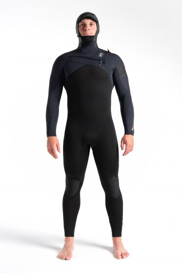 C Skins ReWired 6/4mm Hooded Chest Zip Wetsuit 2021