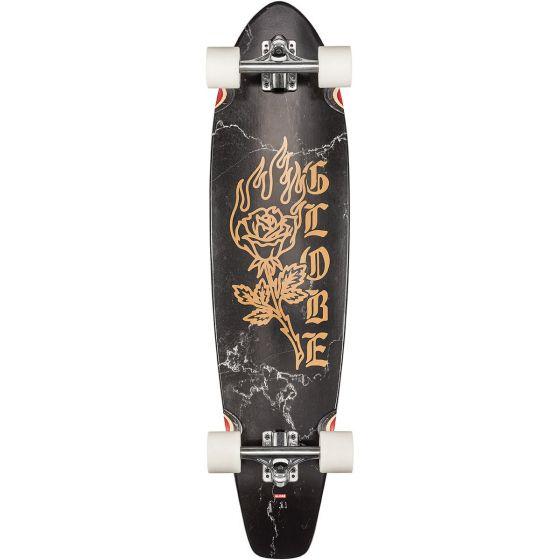 "Globe The All-Time 35"" Skateboard - Black Rose"