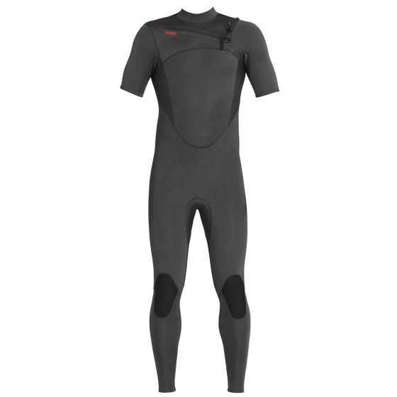 Xcel Mens Comp 2mm Chest Zip Short Sleeve Wetsuit 2020 - Jet Black