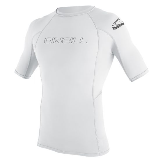 O'Neill Basic Skins Short Sleeve Rash Vest 2020 - White