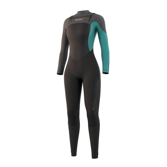 Mystic Diva 5/3mm Chest Zip Ladies Wetsuit 2021 - Black/Mint