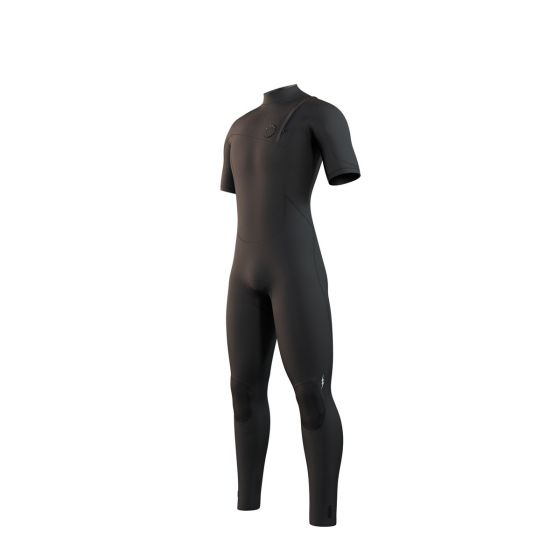 Mystic The One Mens Short Arm 3/2mm Zip Free Wetsuit 2021 - Black - Front