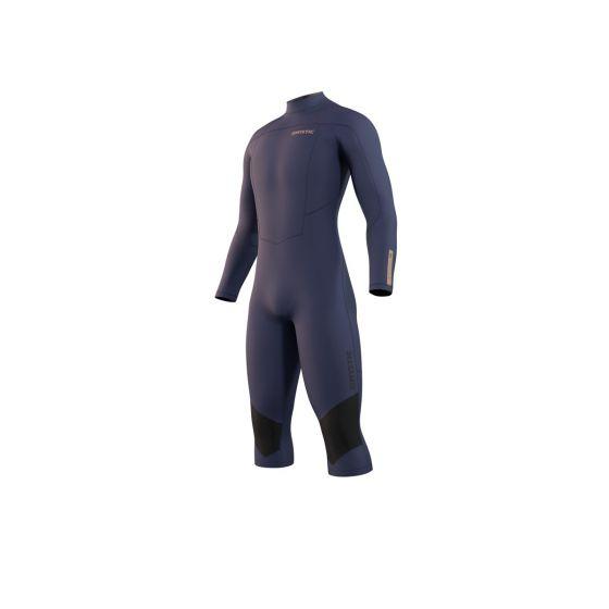 Mystic Mens Marshall Long Arm Short Leg 4/3mm Wetsuit 2021 - Night Blue - Front