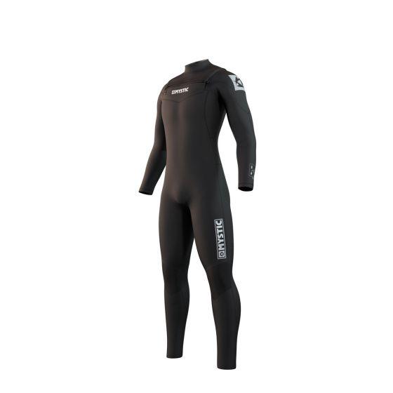Mystic Star 5/3mm Chest Zip Mens Wetsuit 2021 - Black - Front