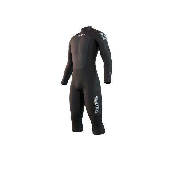 Mystic Brand 3/2mm Long Arm Mens Shorty Wetsuit 2021 - Black