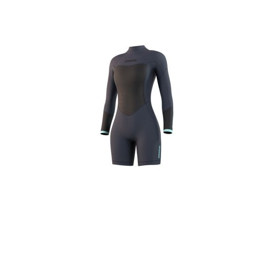 Mystic Brand 3/2mm Longarm Womens Shorty Wetsuit 2021 - Night Blue