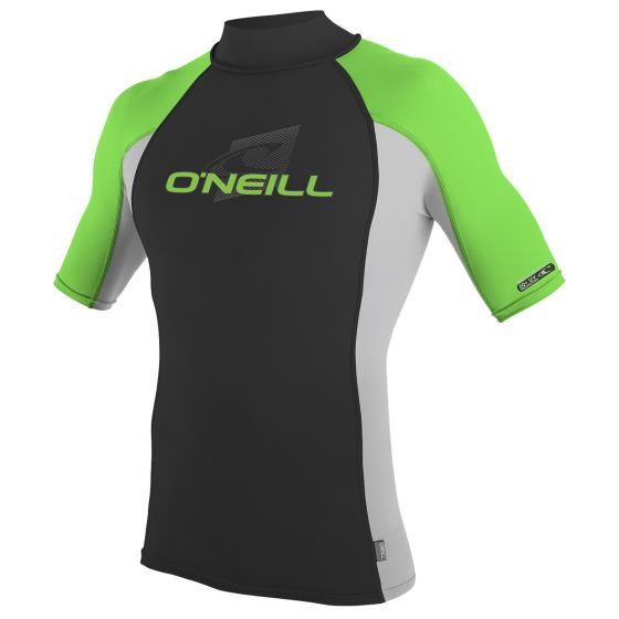 O'Neill Skins Youth Short Sleeve Turtleneck Sun Top 2019 - Cool Grey