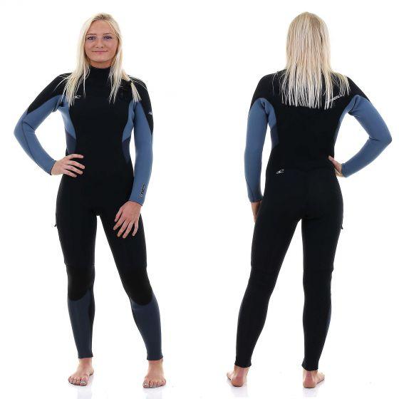 O'Neill Supertech 5mm Womens Wetsuit - Black / Dusty