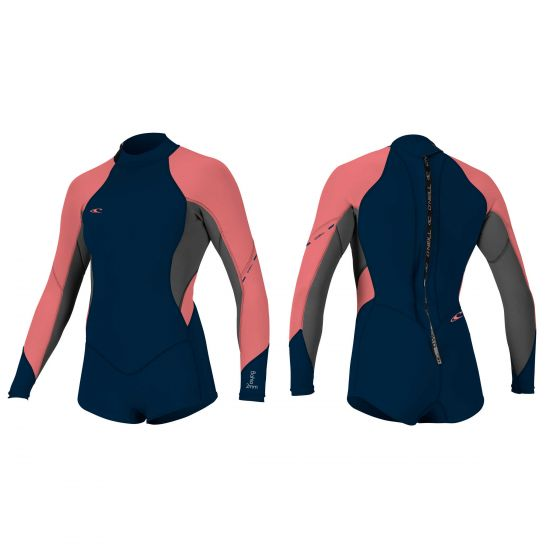 O'Neill Bahia Ladies 2/1mm Long Sleeve Shorty Wetsuit 2017 - Coral