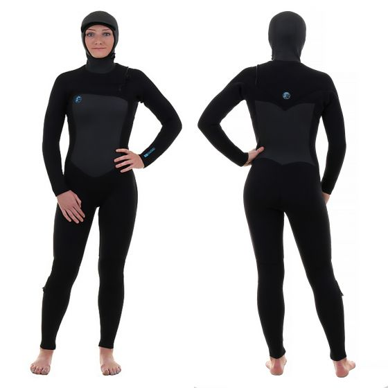 o'neill original 6/4mm hooded chest zip wetsuit 2018