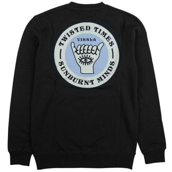 Vissla Twisted Digits Crew Sweatshirt - Phantom