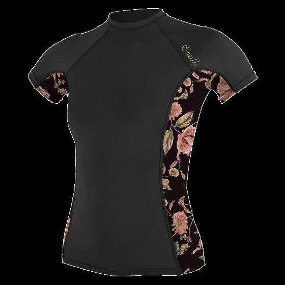 O'Neill Side Print Womens Rash Vest 2021 - Black