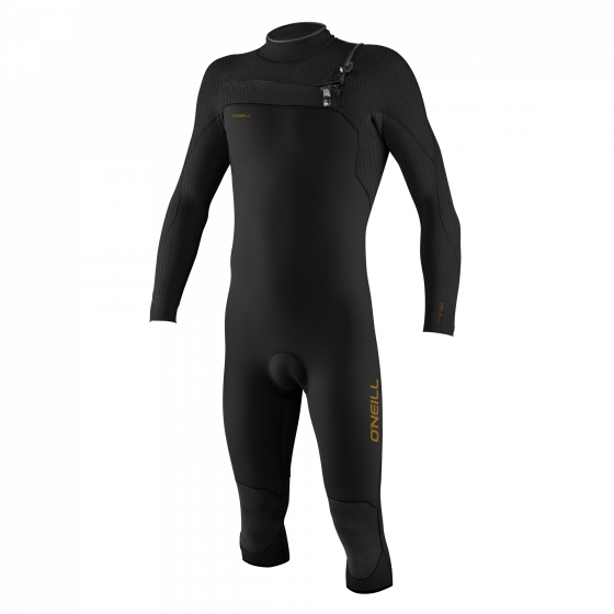 O'Neill Hyperfreak 4/3+mm Overknee Chest Zip Wetsuit 2021 - Black