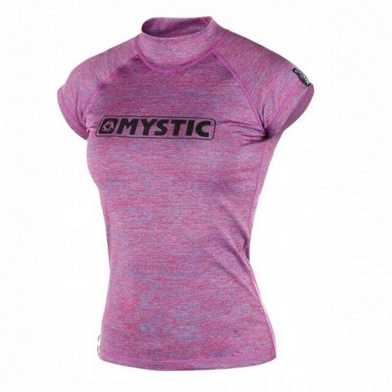 Mystic Star Womens Short Sleeve Rash Vest - Pink Marlee - Front