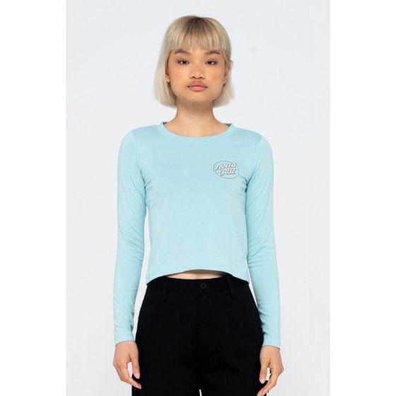 Santa Cruz Paisley Dot Long Sleeve Womens T-Shirt - Sea Foam - Front
