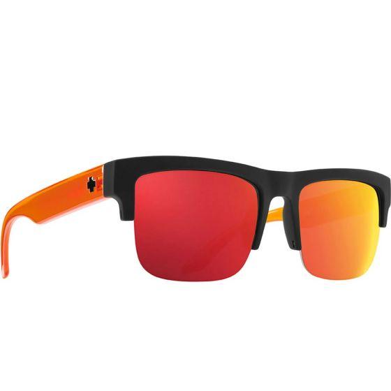 SPY Discord 5050 Black Orange Sunglasses - HD Plus Grey Green/Orange