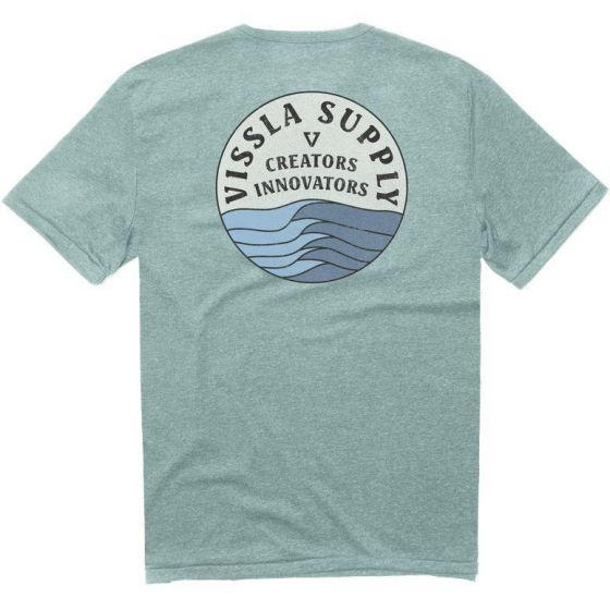 vissla heather blue tee