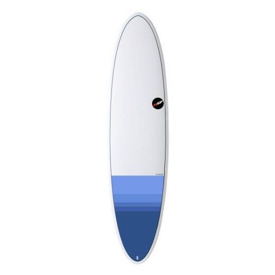 NSP Element HDT 7ft 6 Funboard Surfboard in Tail Dip Blue