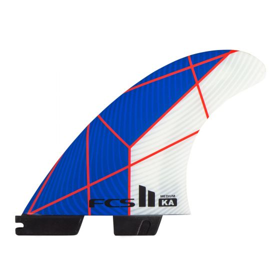 FCS II Kolohe Andino PC Thruster Fins in Medium - Blue/White