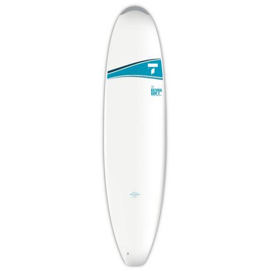 Tahe 7ft 9 Mini Mal Malibu Surfboard - White/Blue