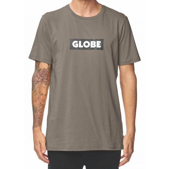 Globe Box Mens T-Shirt in Walnut
