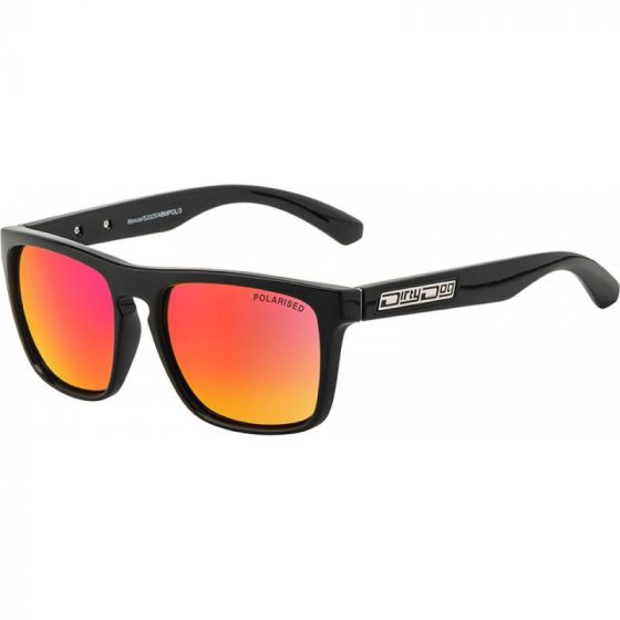 Monza Black/Grey Red Fusion Mirror Polarised Sunglasses